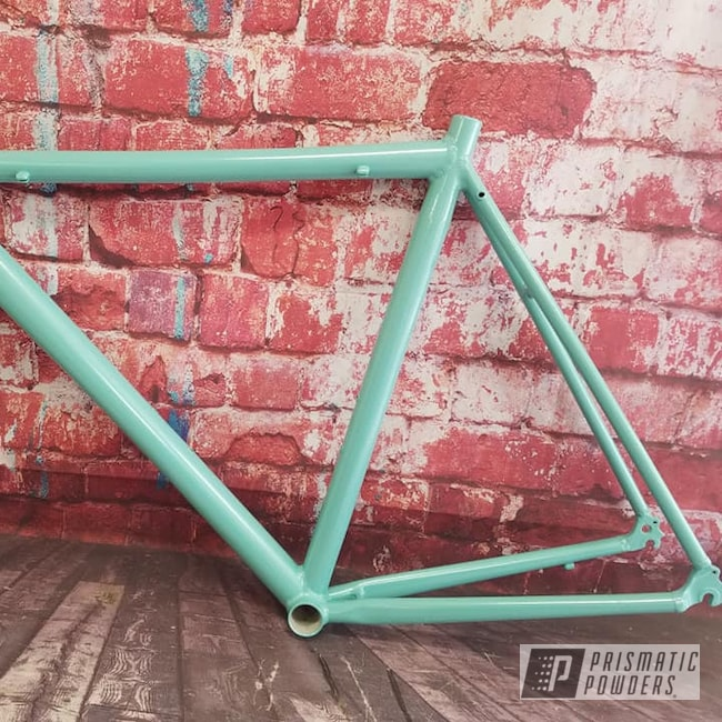Powder Coating: Bicycles,Bike,Sea Foam Pearl PMB-6797,Bicycle Frame