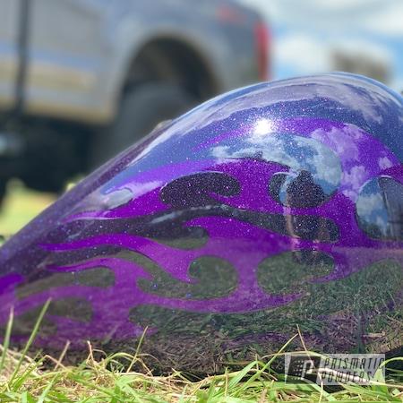 Powder Coating: Illusion Purple PSB-4629,Automotive,Harley Davidson,Ink Black PSS-0106,Harley Tank,Harley Davidson Softail,Motorcycles,Casper Clear PPS-4005,Chameleon Sapphire Teal PPB-5732,Gas Tank