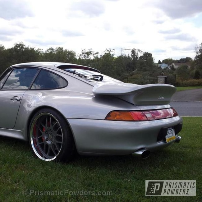 Powder Coating: Wheels,Cosmic Grey PMB-1756,Clear Vision PPS-2974,Wheels refinished By Renewed Finishes,1997 Porsche 911 Twin Turbo Champion wheels,Cosmic Grey centers and polished lips
