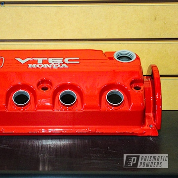 Powder Coated Red Honda Civic Valve Cover