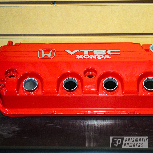 Powder Coating: D Series Valve Cover,Automotive,Clear Vision PPS-2974,Civic,Honda,Honda Civic,Honda Engine,Astatic Red PSS-1738,Valve Cover