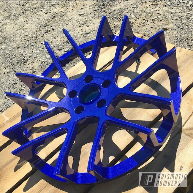 "Powder Coating: Wheels,Automotive,Clear Vision PPS-2974,20"",20"" Aluminum Wheels,Illusion Royal PMS-6925,3 Piece Wheels"