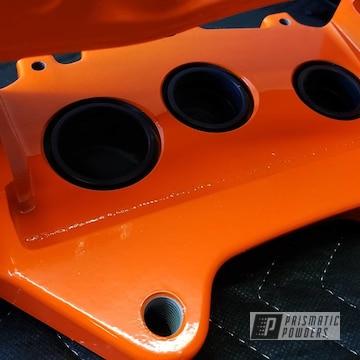 Powder Coated Orange Cts-v V3 Brembo Brakes