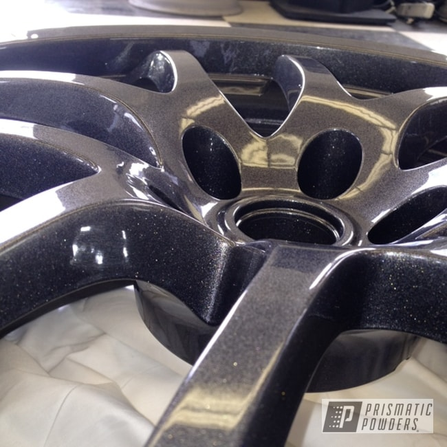 Powder Coating: Speedway Black PMB-1842,Wheels,Custom,Clear Vision PPS-2974,Black,powder coating,powder coated,Prismatic Powders,Infinity rims