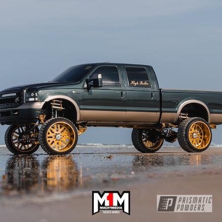 Powder Coating: Wheels,Automotive,2 Tone Rims,Aluminium Wheels,26x16,2 Stage Application,Candy Gold PPB-2331,Ford,f250