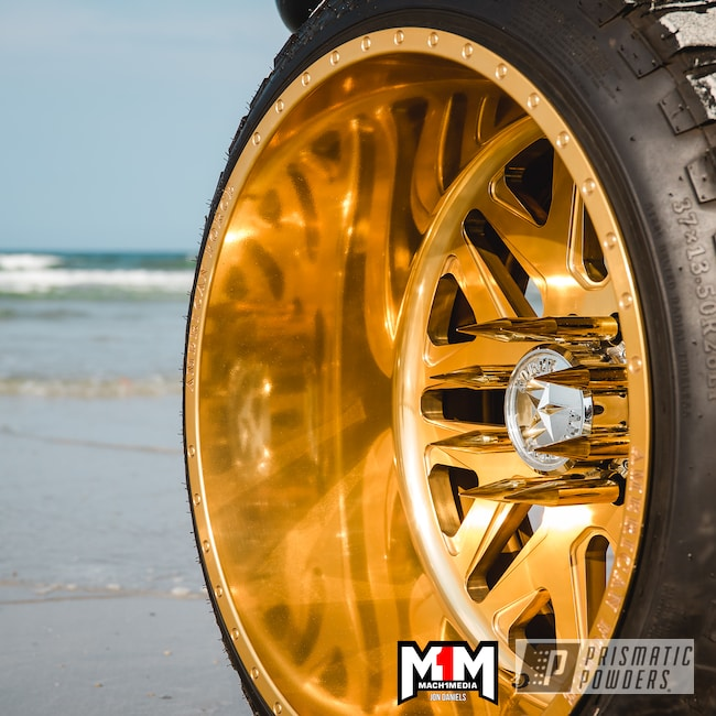 Powder Coating: Wheels,Automotive,2 Tone Rims,Aluminium Wheels,26x16,2 Stage Application,Candy Gold PPB-2331,Ford,f250