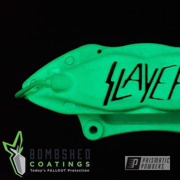 Powder Coated Glow-in-the-dark Brembo Brakes