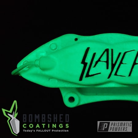 Powder Coating: American Muscle,Automotive,Brembo,Polar White PSS-5053,GT500 King of the Road,Glow-In-The-Dark,Glowbee Clear PPB-4617,2012 Ford Cobra,Shelby Cobra,Brembo Brakes,Ford,Custom Brakes,Dark Grey Sparkle PMB-2750