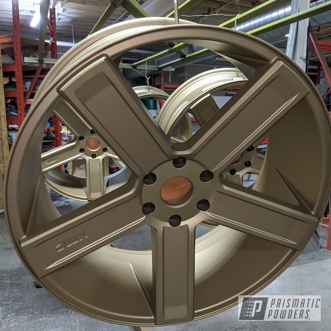 "Powder Coating: MATTE CLEAR PPB-4509,Wheels,Automotive,24"" Wheels,Sleet Gold PMB-4674,24"",KMC"