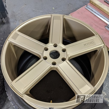 Powder Coated 24 Inch Kmc Wheels In Ppb-4509 And Pmb-4674