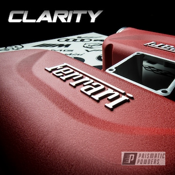 Powder Coated Red Ferrari F430 Intake Covers
