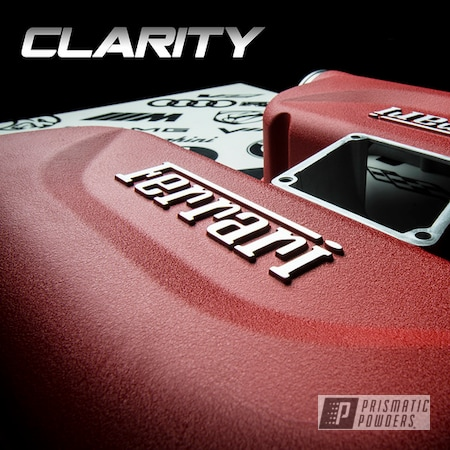 Powder Coating: Automotive,Intake,Engine Parts,Ferrari,F430,Desert Red Wrinkle PWS-2762,driveclarity