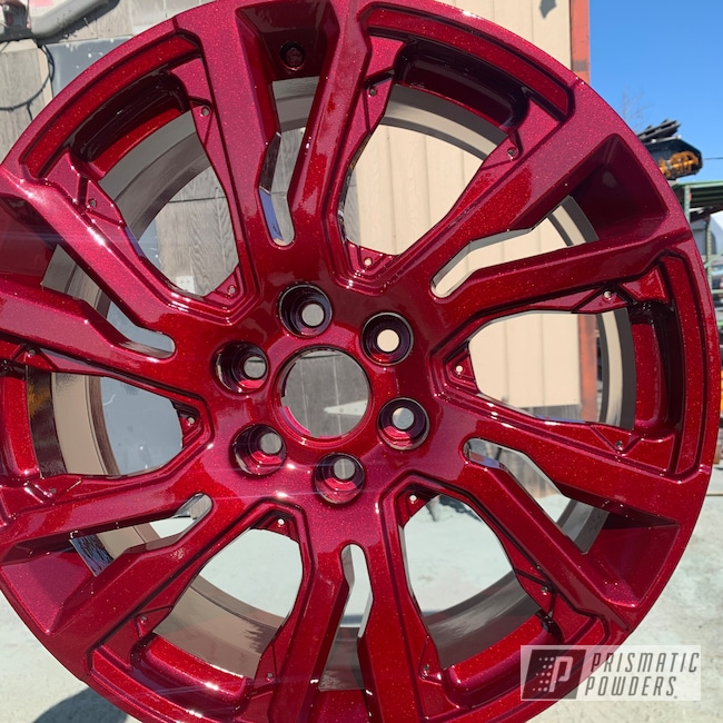 "Powder Coating: Wheels,Automotive,Clear Vision PPS-2974,20"" Wheels,Illusion Cherry PMB-6905"