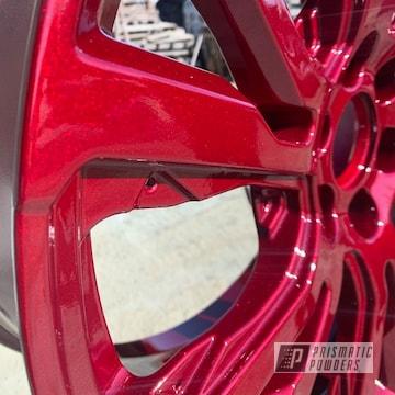 Powder Coated Cherry Red 20 Inch Wheels