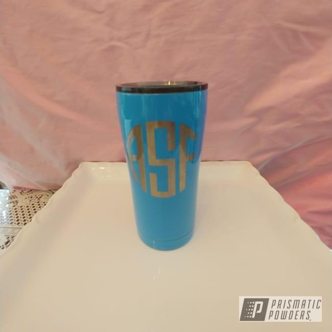 Powder Coating: 20oz,Clear Vision PPS-2974,Powder Blue PSS-4009,20oz Tumbler,Custom Tumbler Cup