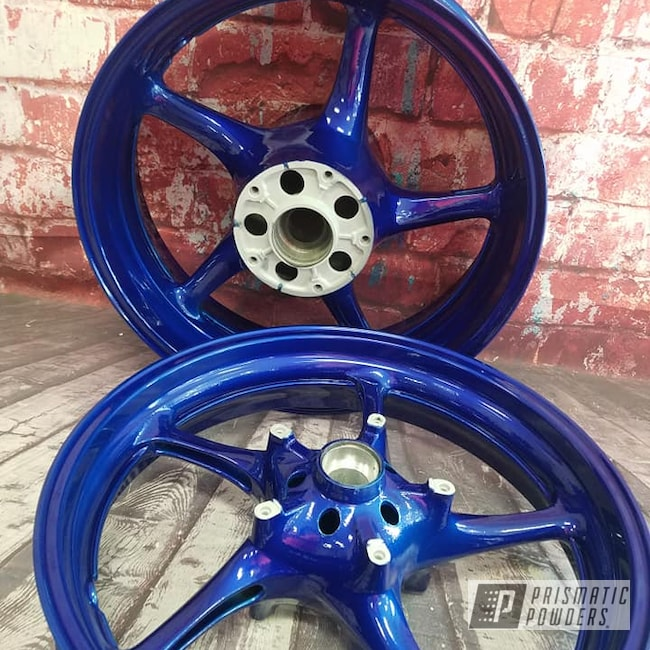 Powder Coating: Automotive,Clear Vision PPS-2974,Motorcycle Rims,Motorcycle Parts,Motorcycles,Illusion Royal PMS-6925,Illusions