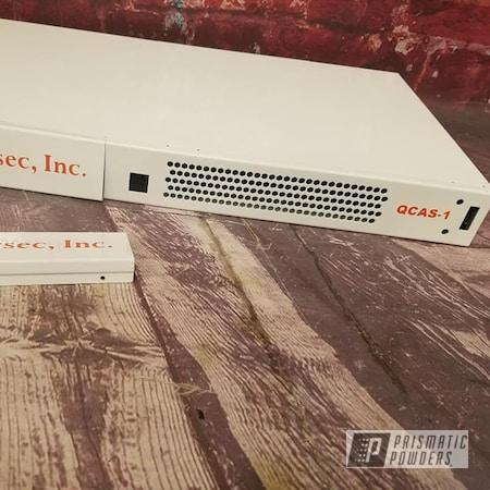 Powder Coating: Custom Two Tone,Gloss White PSS-5690,Electronics,Custom Logo,Miscellaneous,RAL 2010 Signal Orange,Computer Parts