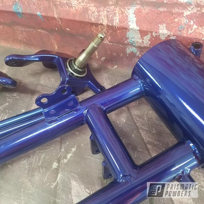 Powder Coating: Automotive,SUPER CHROME USS-4482,Swing Arm,Motorcycle Parts,LOLLYPOP BLUE UPS-2502,Motorcycles