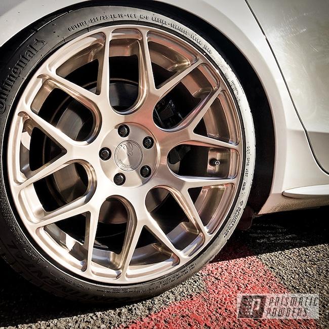 "Powder Coating: Wheels,19"" Wheels,19"",Automotive,M590,Avant Garde,Lightly Gold PPB-6314"