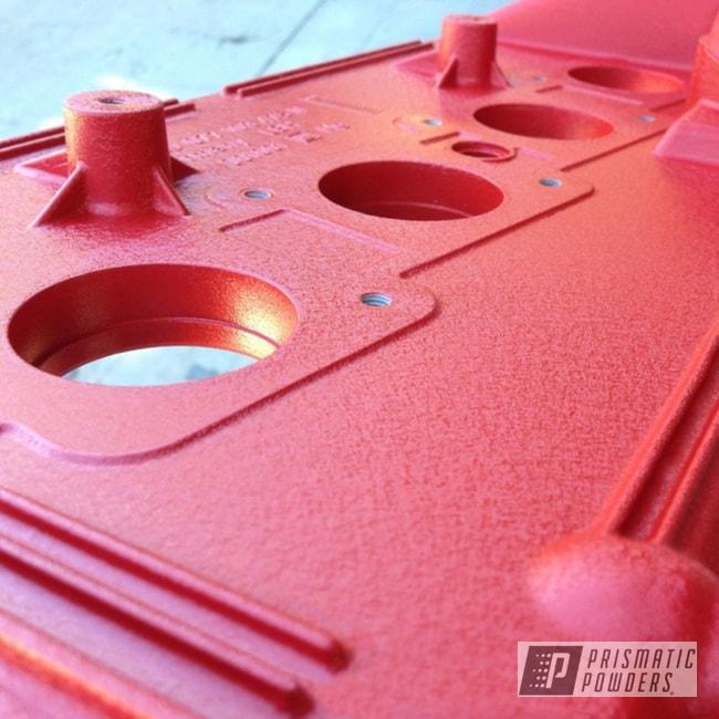 Powder Coating: Automotive,Wrinkle,Volkswagen,Audi,Desert Red Wrinkle PWS-2762,VW,Valve Cover,1.8T Engine