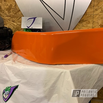 Powder Coated Orange Jeep Wrangler Fender And Accents