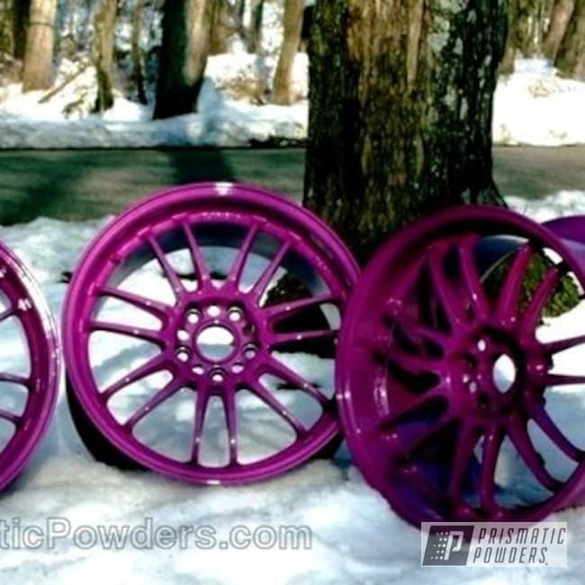 Powder Coating: Wheels,Custom,Fuchsia Glitter PMB-2536,Purple,powder coating,powder coated,Prismatic Powders