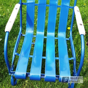 Powder Coated Vintage Lloyd Lawn Chair In Pps-2974 And Pvs-5764