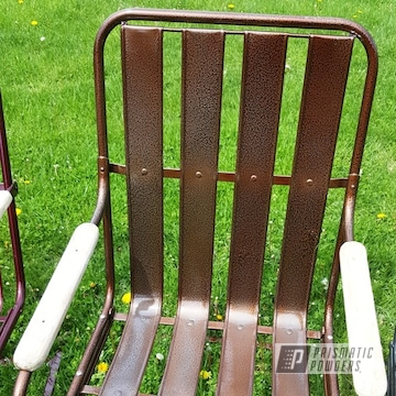 Powder Coated Lloyd Pre Wwii Metal Chair