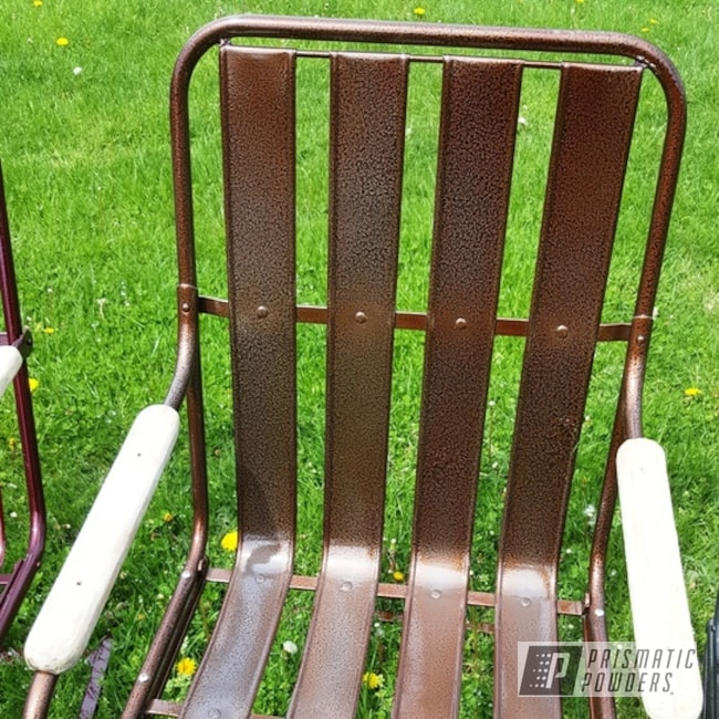 Powder Coating: Vintage Chairs,Metal Chairs,Clear Vision PPS-2974,Transparent Copper PPS-5162,Outdoor Furniture,Lloyd Pre WWII,Black Frost PVS-3083