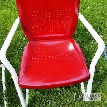 Powder Coated Vintage Metal Chair