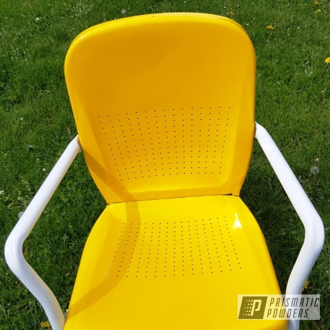 Powder Coated Refinished Metal Chair