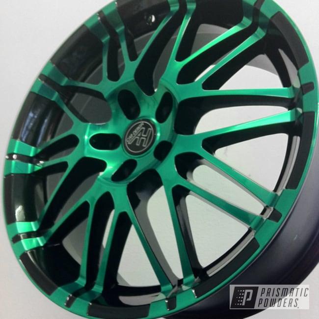 Powder Coating: Wheels,Ink Black PSS-0106,MOUNTAIN GREEN PPB-2470