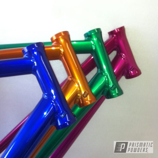 Powder Coating: Bicycles,LOLLYPOP BLUE UPS-2502,Bicicle Frames,MOUNTAIN GREEN PPB-2470