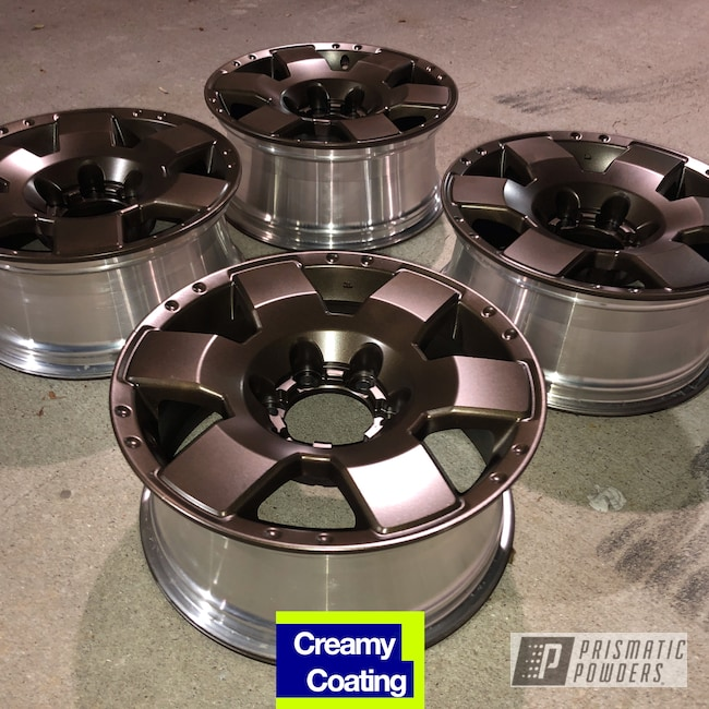 "Powder Coating: Wheels,Automotive,Satin Bronze Chrome PMB-10182,Tundra,18"",Toyota,18"" Aluminum Wheels"