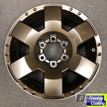 "Powder Coating: Wheels,Automotive,Satin Bronze Chrome PMB-10182,Tundra,18"",Toyota,18"" Aluminum Wheels"