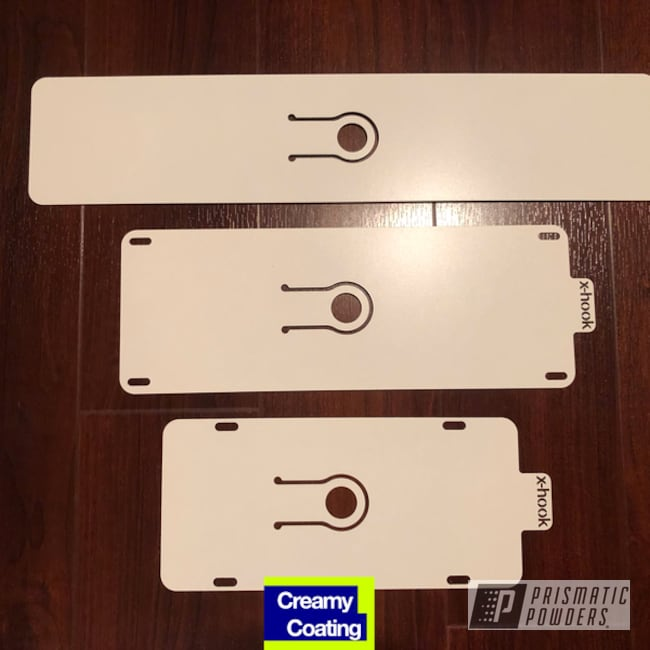 Powder Coating: Soft Satin White PSS-1353,License Plate,Miscellaneous