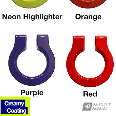 Powder Coating: Illusion Purple PSB-4629,Automotive,Clear Vision PPS-2974,Stone Black PSS-1168,Tow Hooks,Flame Red PSS-5082,Bubba PSS-3042,Neon Yellow PSS-1104,Flag Orange PSS-5337,Tow Hook