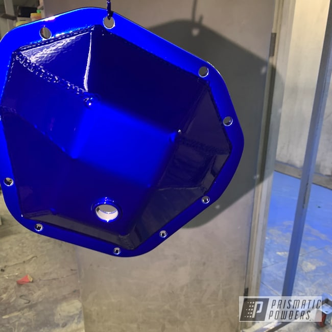 Powder Coating: Automotive,Differential Cover,Intense Blue PPB-4474,Powder Coated F350 Lift  and Bumpers