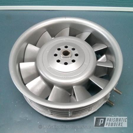 Powder Coating: Single Powder Application,Automotive,SLICK SILVER UMB-1976,Solid Tone,Porsche Alternator Fan
