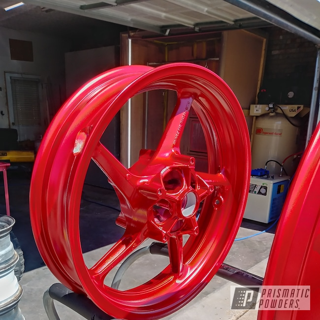 Powder Coating: Wheels,Suzuki GSXR,BMW Silver PMB-6525,Automotive,Anodized Red PPB-5936,Motorcycles