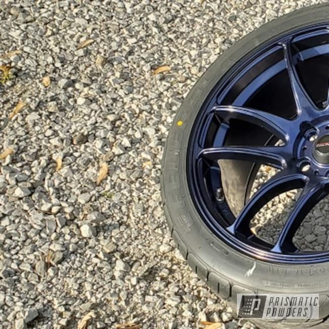 "Powder Coating: Wheels,Automotive,Misty Wave Blue PMB-2051,18"",Vors TR4,18"" Aluminum Wheels"