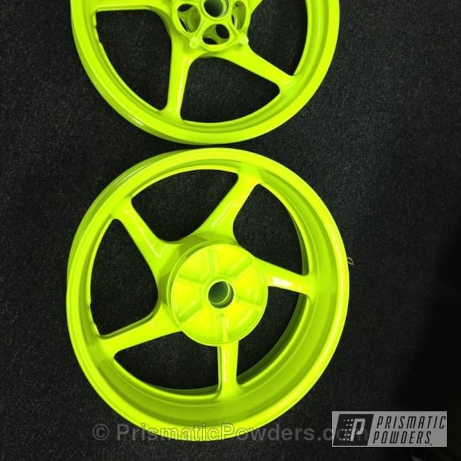 Powder Coating: Wheels,Glowing Yellow PPB-4759