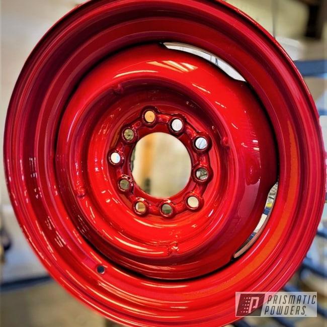 Powder Coating: Wheels,Automotive,SUPER CHROME USS-4482,LOLLYPOP RED UPS-1506