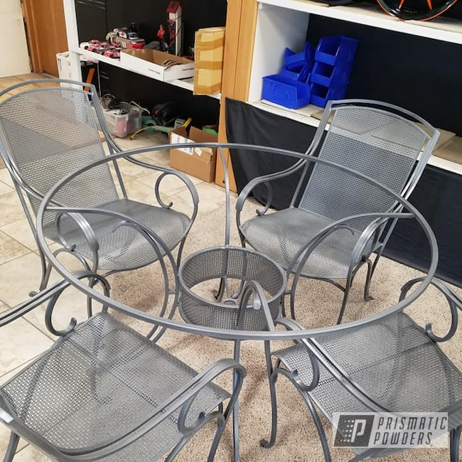Powder Coating: Metal Chairs,Patio Chairs,PEWTER STONE UTB-1398,Patio Furniture,Custom Mix,Outdoor Furniture