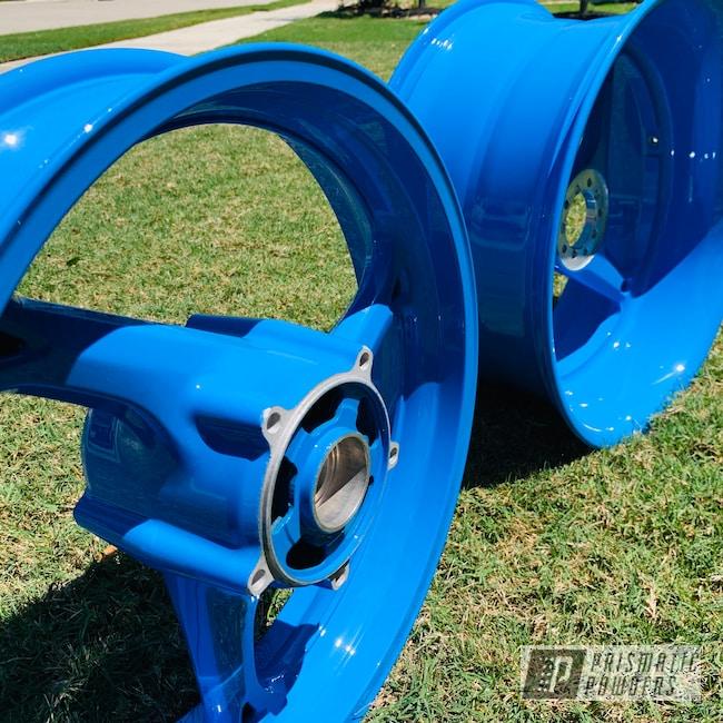 Powder Coating: Wheels,Automotive,Suzuki Hayabusa,Playboy Blue PSS-1715,Suzuki,Motorcycles