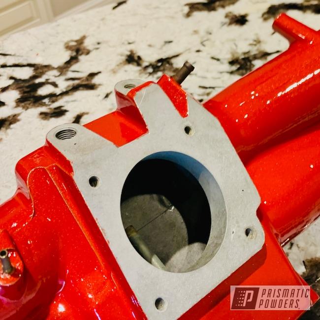 Powder Coating: Clear Vision PPS-2974,Subaru STI,Illusion Red PMS-4515,Intake