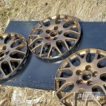 Powder Coated 16 Inch Aluminum Wheels In Pmb-4124