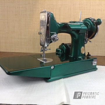 Powder Coated Refinished Antique Sewing Machine