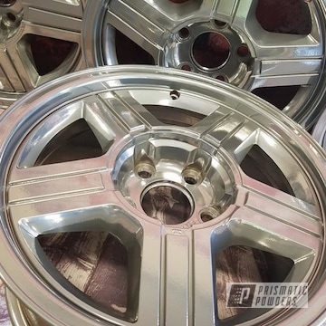 Powder Coated 17 Inch Wheels In Pps-2974 And Uss-4482