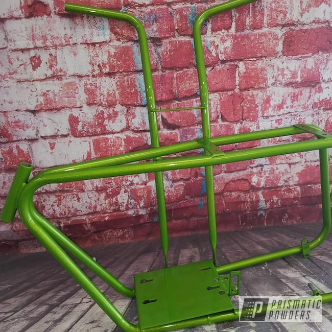 Powder Coating: Automotive,Clear Vision PPS-2974,Motorcycle Parts,Illusion Sour Apple PMB-6913,Motorcycles,Illusions,Dirt Bike Frame